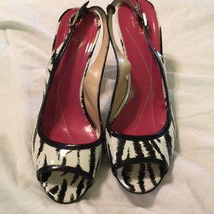 Kate Spade zebra print heels